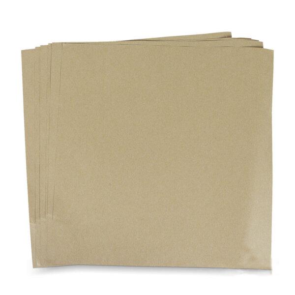 กระดาษรองอาหาร สีน้ำตาลธรรมชาติ 12x12 นิ้ว