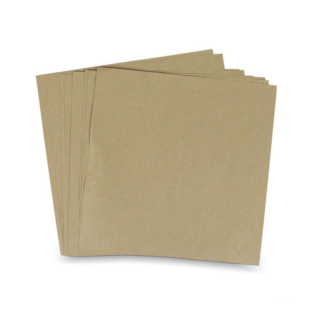 กระดาษรองอาหาร สีน้ำตาลธรรมชาติ 8x8 นิ้ว