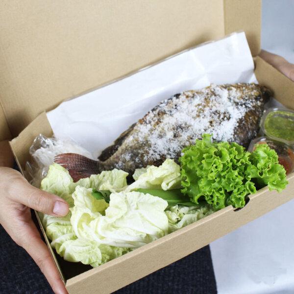 กล่องใส่อาหารทะเล ขนาด 35x19x6 ซม.