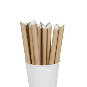 หลอดกระดาษ ชาไข่มุก สีน้ำตาล