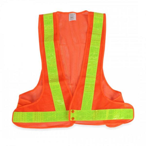 เสื้อสะท้อนแสง สีเขียว-ส้ม