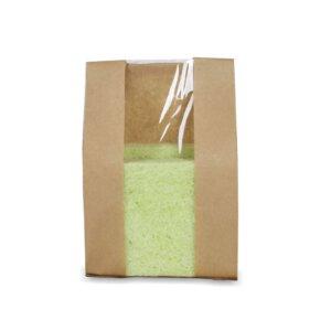 ถุงกระดาษใส่ขนมปัง มีหน้าต่าง ตั้งได้ 12×23.5 ซม.