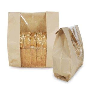 ถุงกระดาษใส่ขนมปัง มีหน้าต่าง ตั้งได้ 32.5×21 ซม.