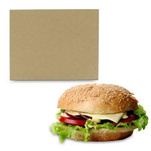 กระดาษห่อข้าวมันไก่,แฮมเบอเกอร์ สีน้ำตาลธรรมชาติ 12×14 นิ้ว