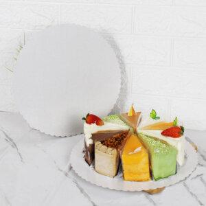 กระดาษรองเค้ก แบบกลม 10 นิ้ว สำหรับเค้ก 3-4 ปอนต์