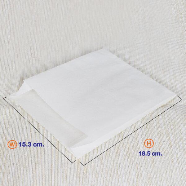 ซองกระดาษคราฟท์สีขาว 18.5x15.3 cm