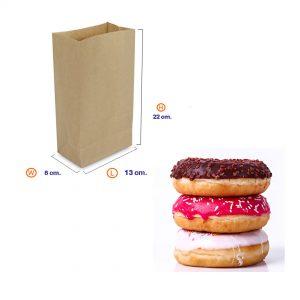 ถุงกระดาษคราฟท์สีน้ำตาล 13x8x22cm(ยxกxส)