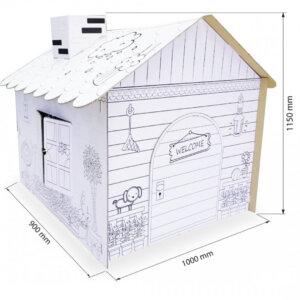 บ้านกระดาษระบายสี ของเล่นขนาด 100x90x115 cm. (ยxกxส)