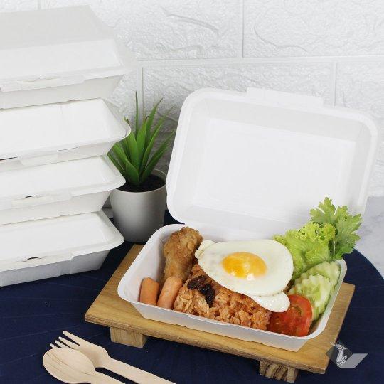 กล่องข้าวกระดาษใส่อาหาร 600 ml