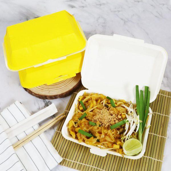 กล่องข้าว ใส่อาหารปลอดภัย สีเหลือง 725 ml.