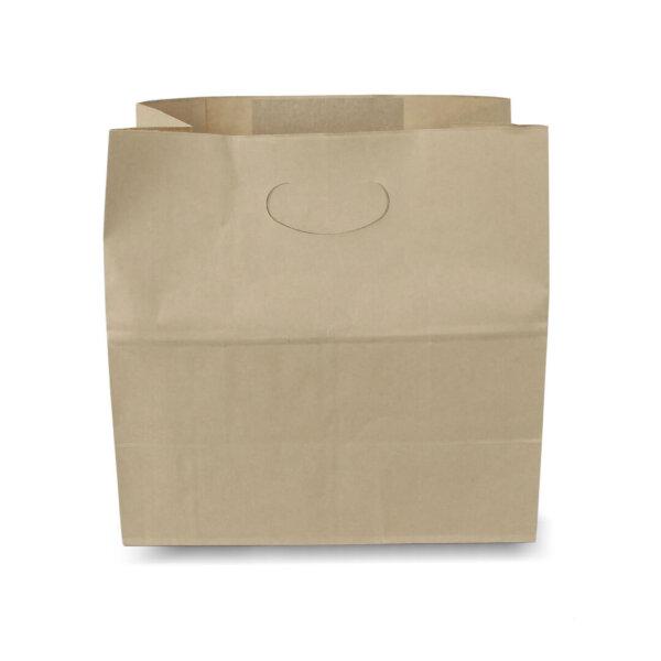 ถุงกระดาษคราฟท์ เจาะหู 28x15x28 cm (ยxกxส)
