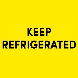 สติ๊กเกอร์คำเตือน KEEP REFRIGARATED 3X5 นิ้ว