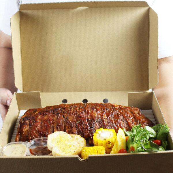 กล่องใส่อาหารทะเล ขนาด 35x23x6 ซม.