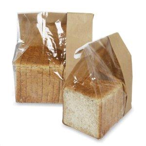 ถุงกระดาษใส่ขนมปัง มีหน้าต่าง ตั้งได้ 33.5×16 ซม.