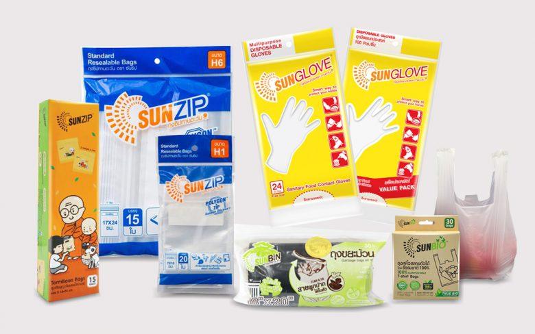 บรรจุภัณฑ์พลาสติก sun product banner