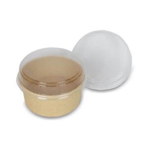 ฝาพลาสติกโดม ใช้กับชามและถ้วยกระดาษ
