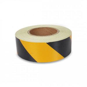เทปกาวสะท้อนแสง สีเหลืองดำ 5 x 50 หลา