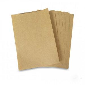 สติ๊กเกอร์ A4 สีน้ำตาล(กระดาษคราฟท์)