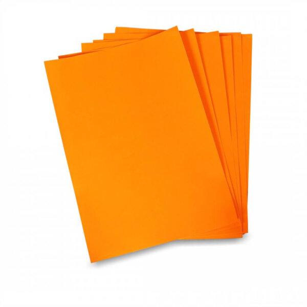 สติ๊กเกอร์ A4 สีส้มสะท้อนแสง