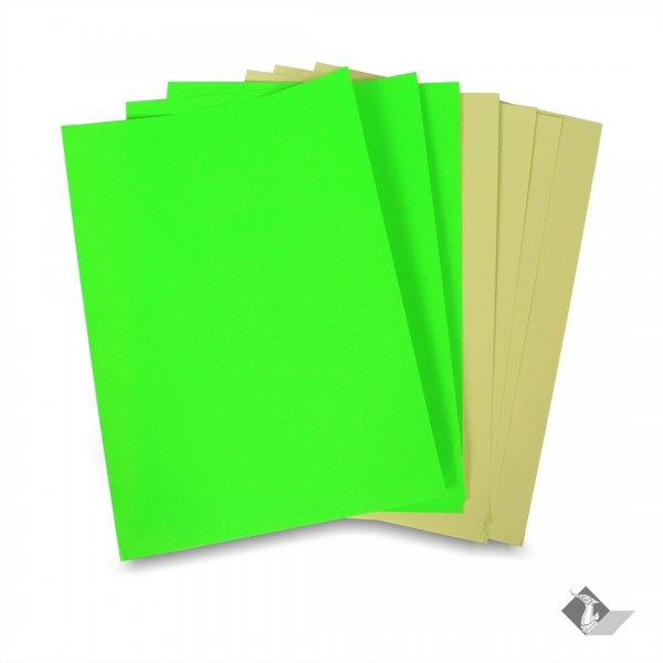 สติ๊กเกอร์ A4 สีเขียวสะท้อนแสง