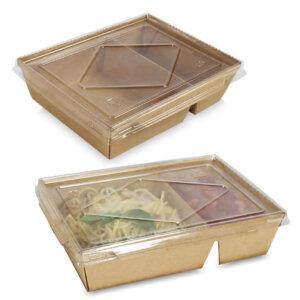 กล่องไฮบริด กล่องฝาปิด 2 ช่อง 70 oz / 2100 มล.
