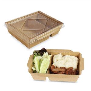 กล่องไฮบริด กล่องฝาปิด 2 ช่อง 25 oz. / 700 มล.