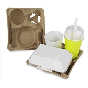 ถาดใส่เซตอาหารและเครื่องดื่ม(Eco food tray)