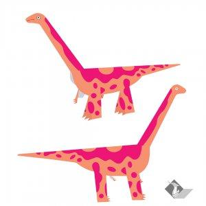 ไดโนเสาร์กระดาษ แบร็คคิโอซอรัส Brachiosaurus
