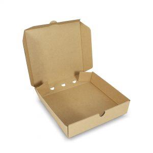 กล่องพิซซ่าสี่เหลี่ยม ขนาด 7 นิ้ว 17 x 17 x 4 ซม.