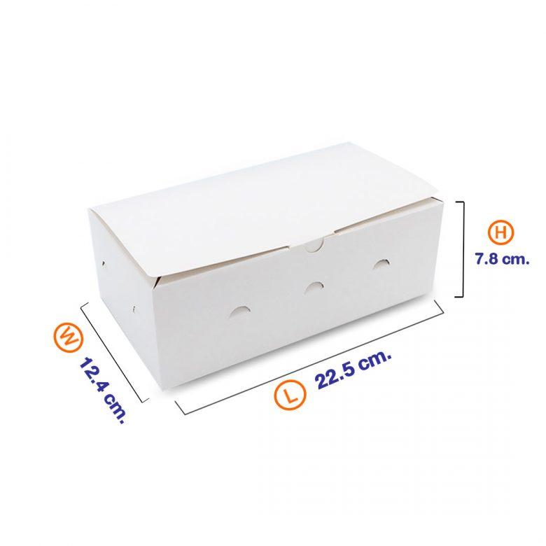 กล่องไก่ทอด สีขาว (Size M)