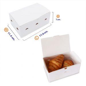 กล่องไก่ทอด กล่องใส่ขนม สีขาว (Size S)