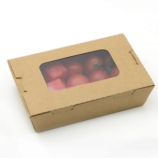 กล่องอาหาร กระดาษคราฟท์ มีหน้าต่าง