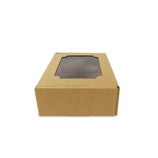 กล่องไดคัทหูช้าง มีหน้าต่าง Size S