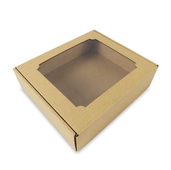 กล่องไดคัทหูช้าง มีหน้าต่าง Size XL