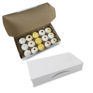 กล่องขนมเปี๊ยะ กล่องกระดาษใส่ขนม สีขาว size M