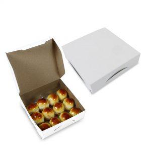 กล่องกระดาษใส่ขนม สีขาว size S