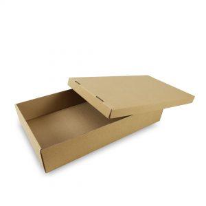 กล่องโดนัทรุ่นฝาครอบ (แยกฝา+ตัว)
