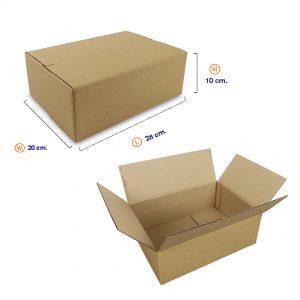 กล่องกระดาษลูกฟูก 3 ชั้น เบอร์ HT4 28x20x10 cm