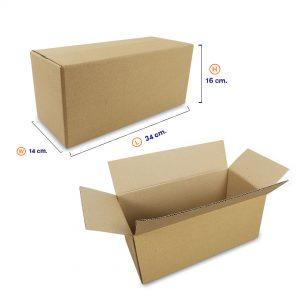 กล่องกระดาษลูกฟูก 3ชั้น เบอร์ HT2 34x14x16 cm
