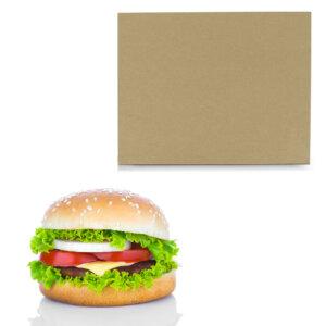 กระดาษห่อแฮมเบอร์เกอร์ สีน้ำตาลธรรมชาติ ขนาด 6×10 นิ้ว