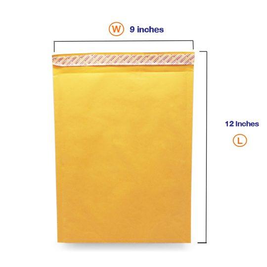 ซองกันกระแทกสีเหลืองมี Bubbles A4