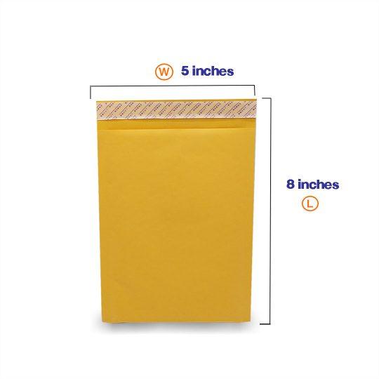 ซองกันกระแทกสีเหลืองมี Bubbles ไม่มีพิมพ์ A5