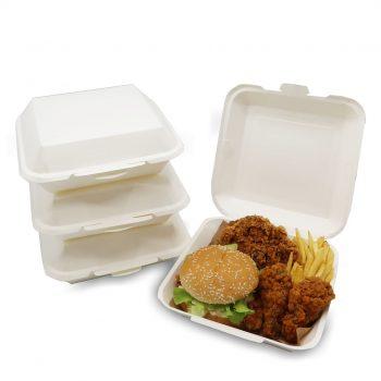 บรรจุภัณฑ์ใส่อาหารทรงเหลี่ยม (Square Shaped Food Paper Packaging)