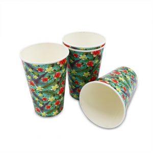 แก้วกระดาษ-ลายดอกลีลาวดี-16-ออนซ์