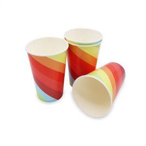 แก้วกระดาษ-ลายเรนโบว์-16-ออนซ์