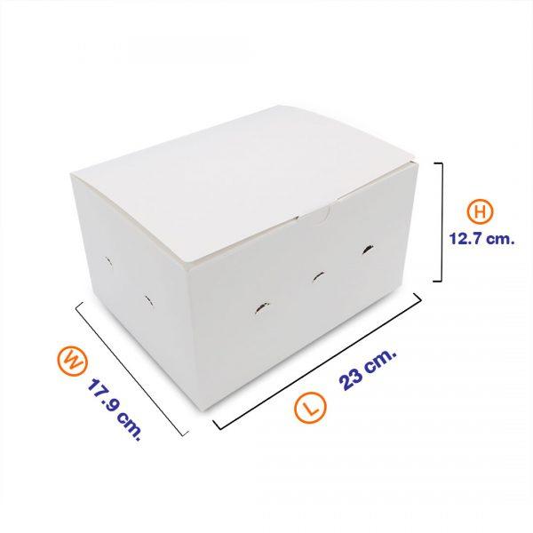 กล่องไก่ทอด สีขาว (Size L)