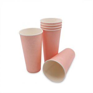 แก้วกระดาษ-สีชมพูพาสเทล-22-ออนซ์