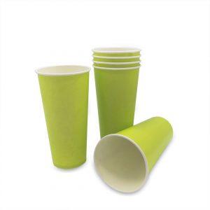 แก้วกระดาษ-สีเขียวมะนาว-22-ออนซ์