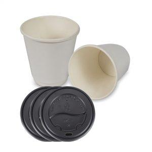 แก้วกระดาษร้อน-2-ชั้น-สีขาว-8-ออนซ์-พร้อมฝา