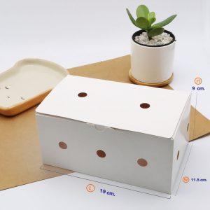 กล่องไก่ทอด บอนชอน สีขาว